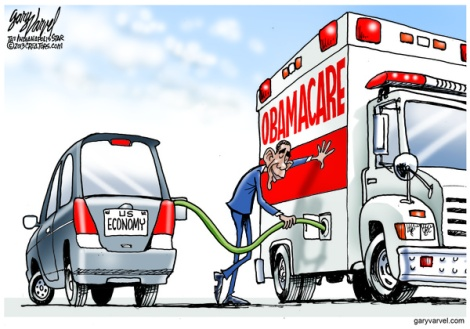 Cartoonist Gary Varvel: Obamacare's drain on the economy