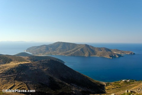Patmos view of island south from Mount Elijah, tb061706520