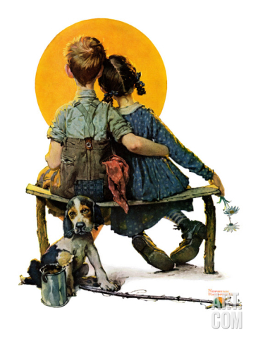 norman-rockwell--little-spooners-or-sunset-april-24-1926_i-G-52-5271-J5RZG00Z