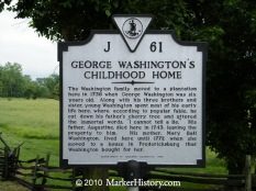 j-61 george washington's childhood home