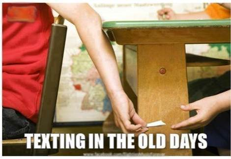 Old texting