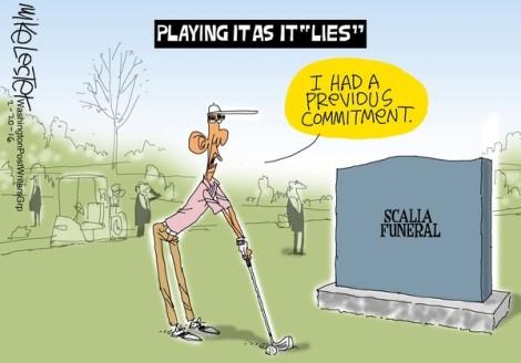 Obama Scalia funeral