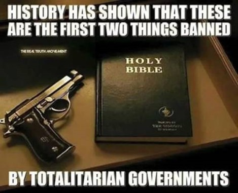 Gun and Bible ban