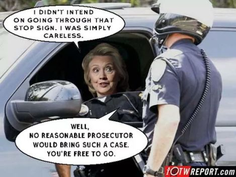 Hillary not guilty